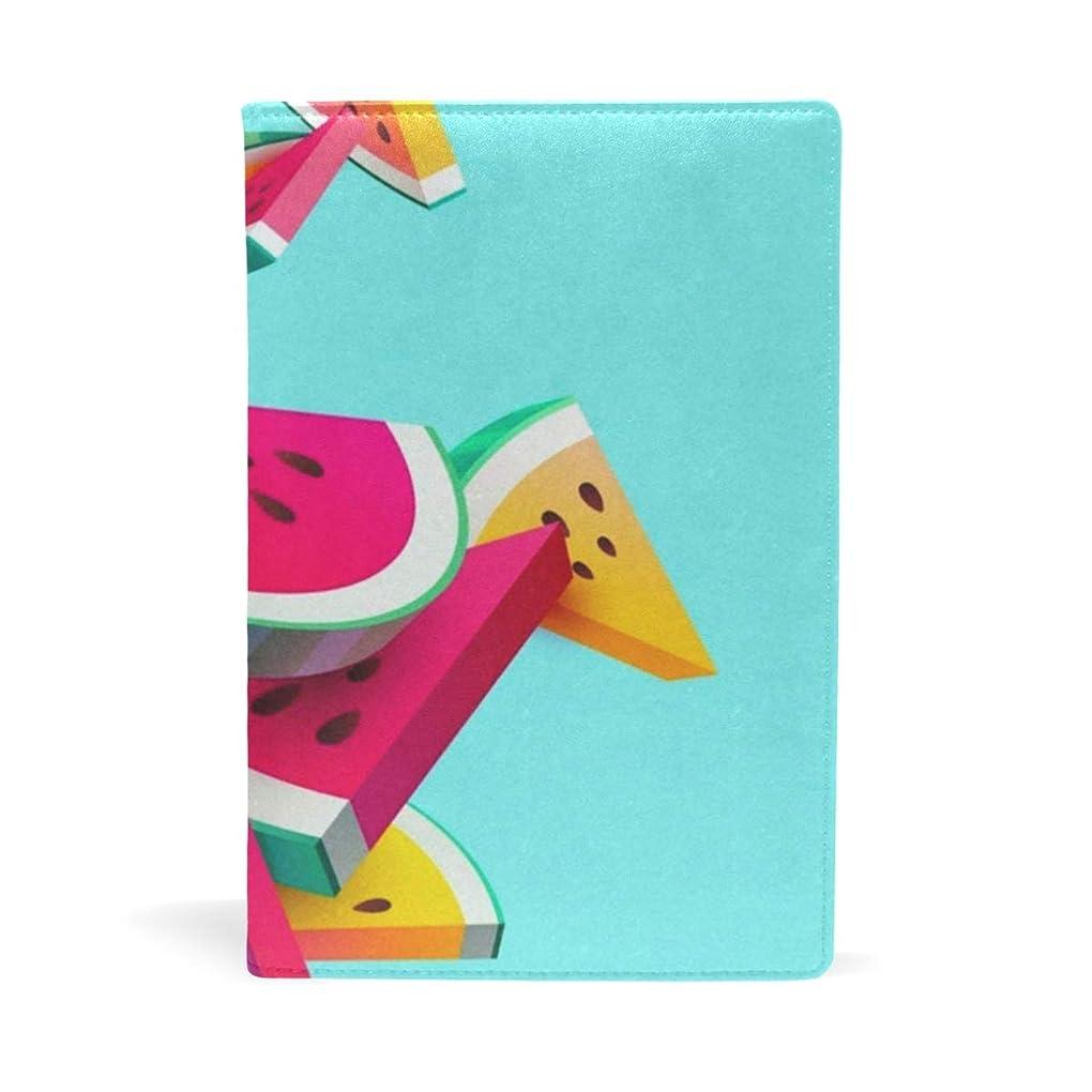 心理的時々時々レモンブックカバー 文庫 a5 皮革 レザー スイカ 文庫本カバー ファイル 資料 収納入れ オフィス用品 読書 雑貨 プレゼント