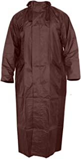 Magic Women's Nylon Hooded Waterproof Long Lightweight Waterproof Raincoat|Overcoat Full Length (Brown)