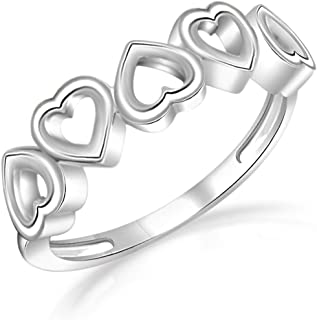 Heart Love Promise Cute Ring New 14K White Gold Plated for Women