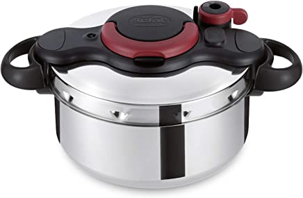 TEFAL ClipsoMinut Easy 6 litre one handed opening Pressure Cooker, Stainless Steel Induction - P4620766
