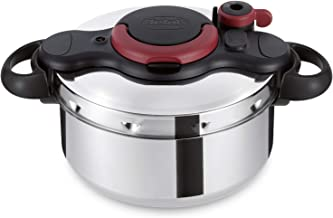 Tefal Clipso Measy Pressurecooker 9 Liter Stainless Steel, P4624966, Silver