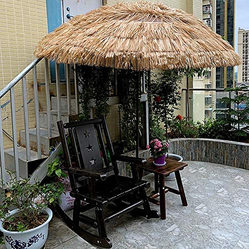 LNDDP 8,2ft Sonnenschirm Hula Thatched Tiki Umbrella Natural Color