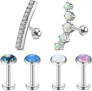 Piercedoff conjunto de 5 Colores Surtidos brillan en la oscuridad Labret Monroe Tragus Barra..