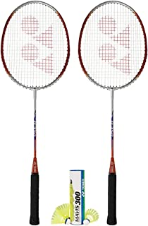 Yonex B-350 (2 Rackets) and 1 Tube of Mavis Shuttlecock Badminton Combo Set