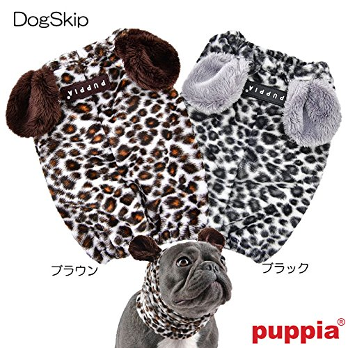犬用 レオパードスヌード:S,M,Lサイズ LEONARD SNOOD PUPPIA パピア ペット ドッグ S ブラック
