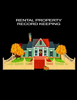 Rental Property Record Keeping: Property Investor Management Logbook, Income & Expense Rent Log, Yearly Financial Goals, Real Estate Investor Gift Ideas, Large Organizer