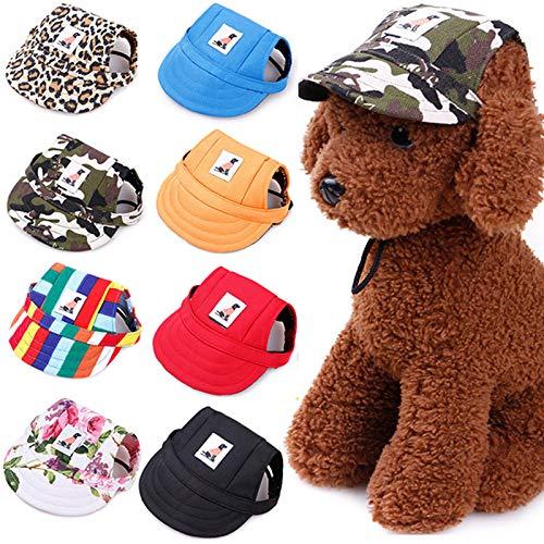 NV Haustier Hund Hut Sommer und Sommer kleine Haustier Hut Baseball Kappe Sonnenhut Welpen im Freien 8 Arten von Hund Hut Haustier liefert zufällige Nicht schwere Farbe