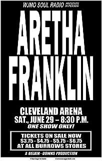 Raw Sugar Art Studio Aretha Franklin 1968 クリーブランドコンサートポスター