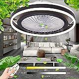 Luz de luz pendiente de luz ligera 46W Ventilador moderno Luz de techo Luz de viento ajustable Ventilador silencioso Lámpara de techo Lámpara de techo Sala de estar Dormitorio Dormitorio Kids Room Nur