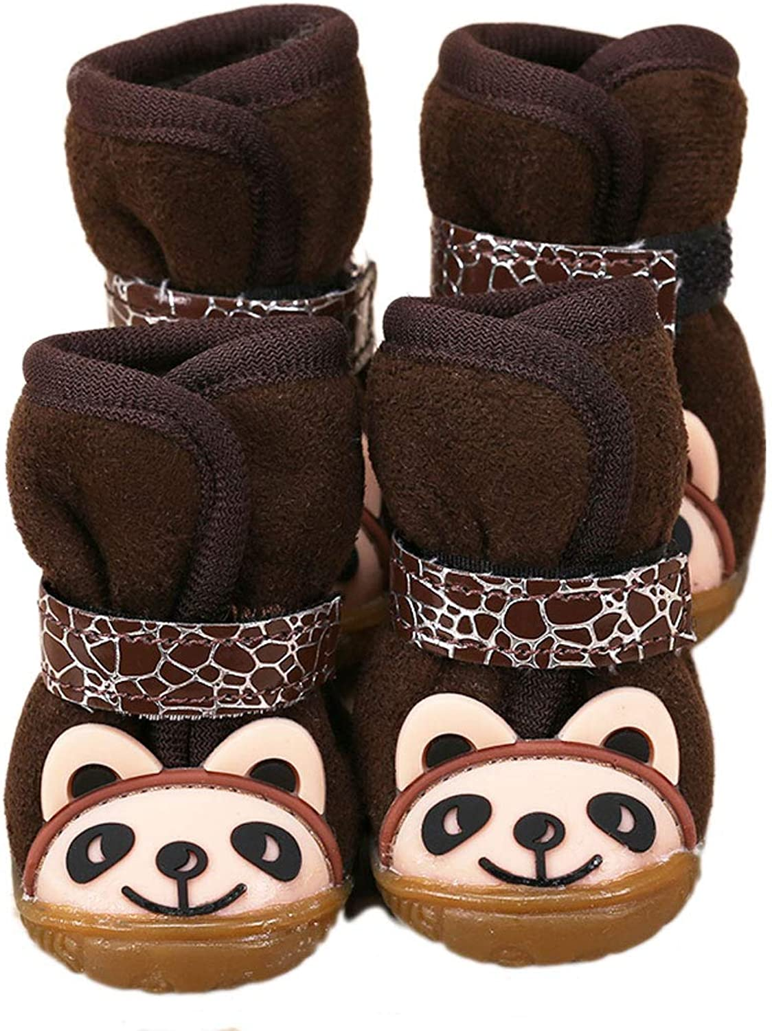 Puppy shoes Autumn and Winter shoes Teddy shoes Snow Boots Pets Than Bear Pet Dog shoes Cat shoes (color   Brown, Size   4)