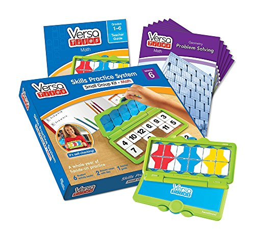 hand2mind VersaTiles Math an Engaging Puzzle Game Kit for Kids (Grade 6+) - Ratio, Problem Solving, Number System, Probability, and Statistics   6 Student Activity Books and 1 Teacher Guide