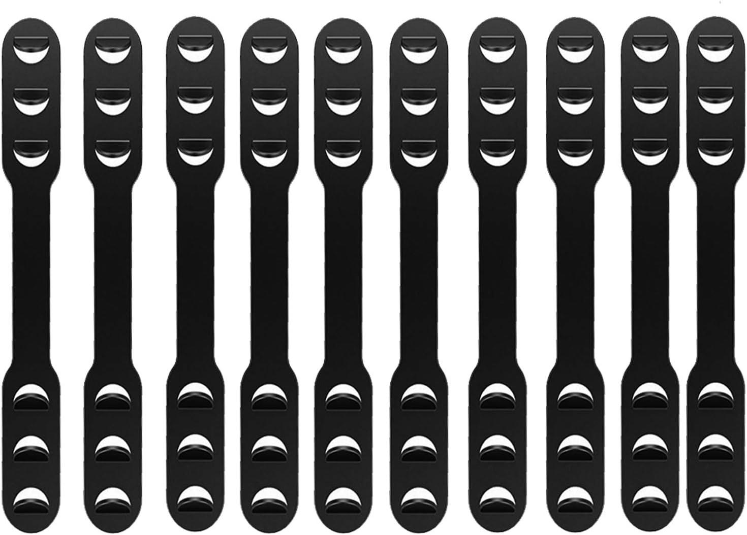 Rapid rise Fukep 10 Pcs Mask Ear Translated Strap Black Masks S Hook Adjustable Buckle