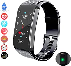 Fitness Tracker Activity Sports Smart Bracelet Wristband for Men Women Kids with Pedometer Waterproof IP67 Heart Rate Monitor Sleep Tracker Call Text Message Reminder Compatible with IOS Android Phone