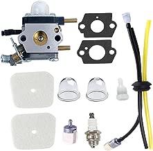 Podoy C1U-K54A Carburetor for Mantis Tiller Parts Air Filter Fuel Line Kit C1U-K17 7222 7222E 7222M 7225 7230 7234 7240 7920 7924 Echo Mantis Tiller Cultivator Engine