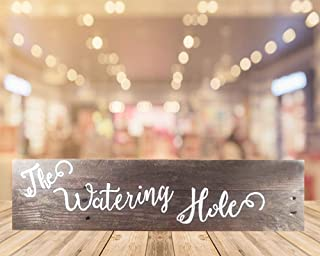 The Watering Hole Pallet Wood Sign W21