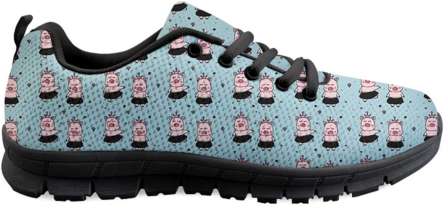 Owaheson Lace-up Sneaker Training shoes Mens Womens Diamond Crown Ballerinas Pigs
