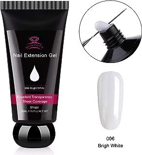 Makartt P-21 Poly Nail Builder Gel Hybrid Gel 50ML 1.76oz Bright White Nail Extension Gel Nail Enhancement Nail Thickening