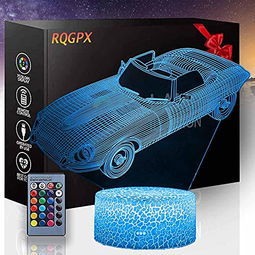 3D ilusión LED noche lámpara vintage coche noche luz para niños lámpara para niñas niños niños edad 5 4 3 1 6 2 7 8 9 10 11 años