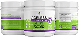 MCT Oil Powder by Catchfire Energy Health- MCT Oil Powder is Perfect for Your Low-carb or ketogenic Diet. MCT (Medium Chain Triglycerides) Vanilla Ketosis Supplement is Great for Energy