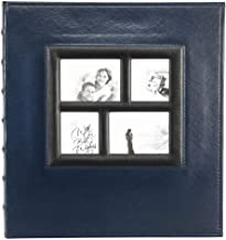Artmag Photo Album 4x6 600 Photos, Large Capacity Wedding Family Leather Cover Picture Albums Holds 600 Horizontal and Vertical 4x6 Photos with Black Pages (Blue)