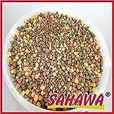 SAHAWA 46176 Koifutter 3-6 mm 5 Sorten Spezialmischung 15 kg Sack, Teichfutter, Fischfutter,Gartenteich+ Muster Seidenraupen zum Testen