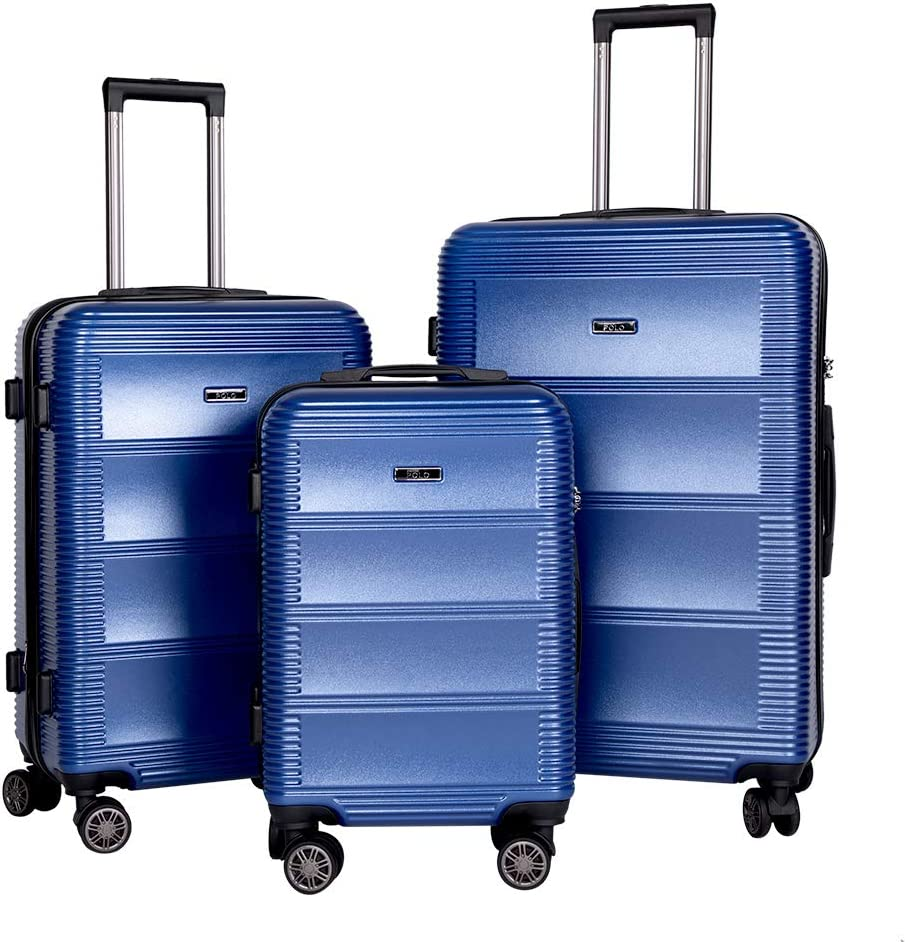 BRONCO POLO Expandable Suitcase Set 67% OFF Cheap mail order sales of fixed price Pieces Shell Luggage Hard 3