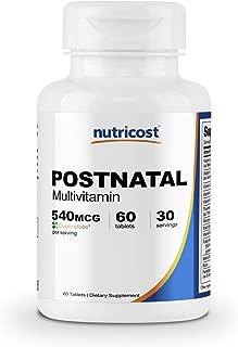 Nutricost Postnatal Multivitamin (60 Tablets) - Vitamins for Mom & Baby