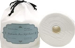 RefuelOn Disposable Face Towel Non-woven Facial Cleansing Cloths Make Up Cotton Tissue for Face 80 Counts