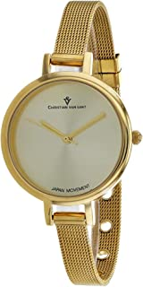 Christian Van Sant Women's Grace Quartz Stainless Steel Strap, Gold, 8 Casual Watch (Model: CV0285)