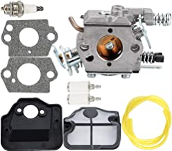 Carburetor Air Filter Fuel Line Spark Plug Parts Kit for Husqvarna 36 41 136 137 137E 141 142 141LE 142E Husky Saw Zama C1Q-W29E Carb WT-834 WT-657 WT-529 WT-289 WT-285 WT-239 WT-202 Engine Chainsaw