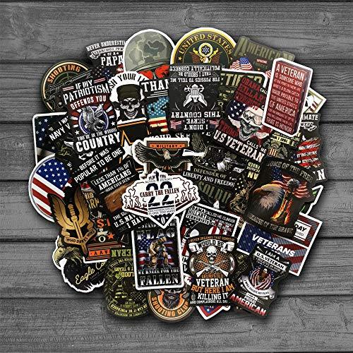 BLOUR 50 Stück American Veteran Squad Punk Coole Skateboard Aufkleber Doodle Decals Gepäck Laptop Laptop Styling Bike Wasserdichter Aufkleber