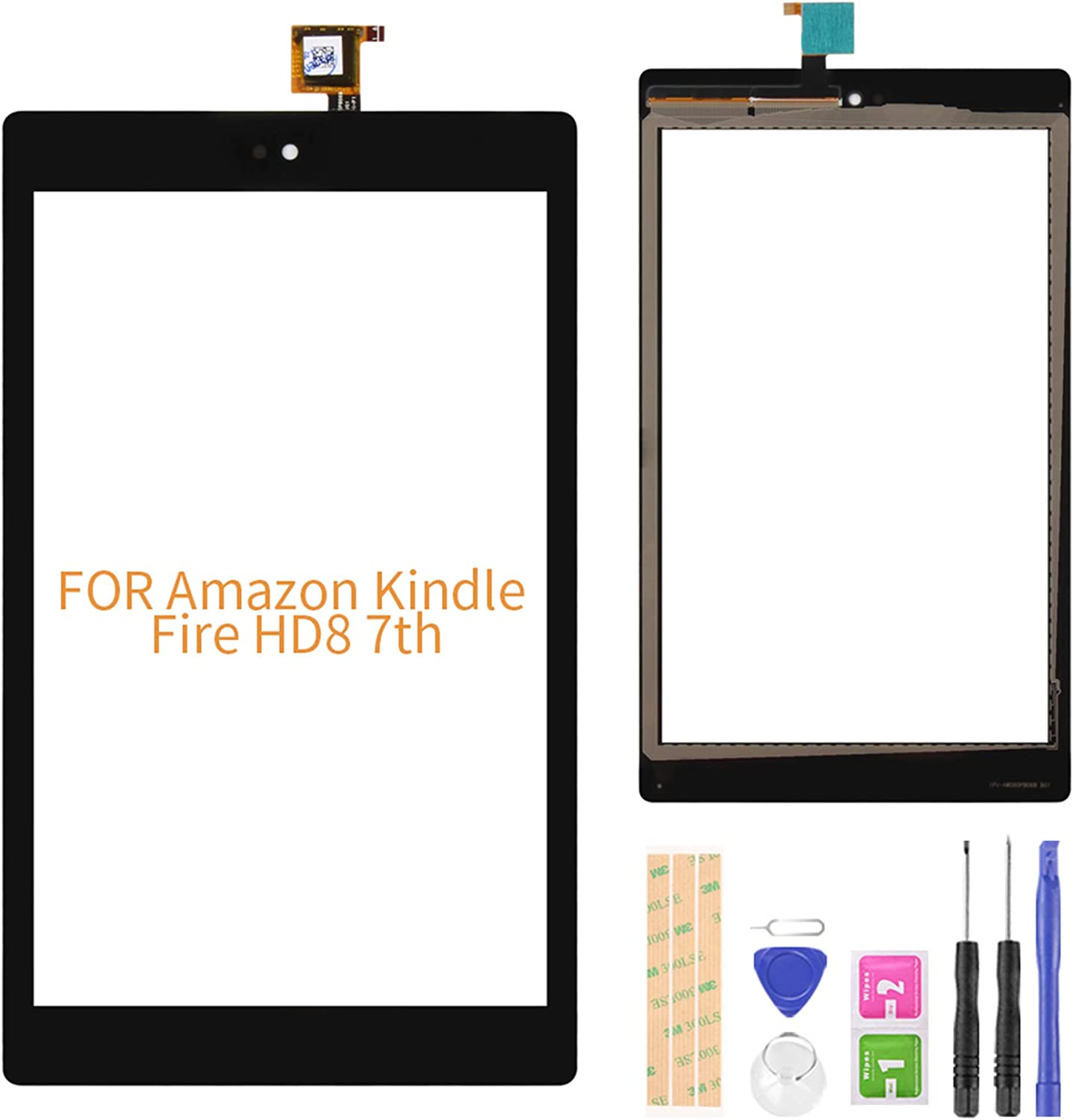 Compatible with Amazon Choice Kindle Milwaukee Mall Fire 7th Screen Digitize Touch HD8