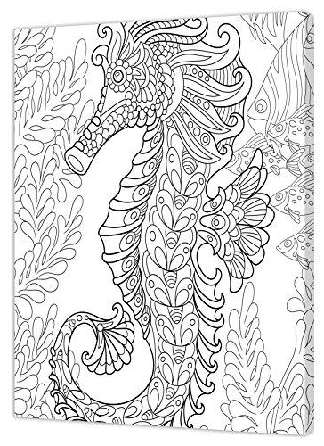 Pintcolor 7169.0 châssis avec Toile imprimée à colorier, Bois de Sapin/Coton, Blanc/Noir, 40 x 50 x 3,5 cm