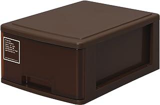 サンコープラスチック 小物収納 シルキー 幅25.2×奥35×高14.9cm ブラウン