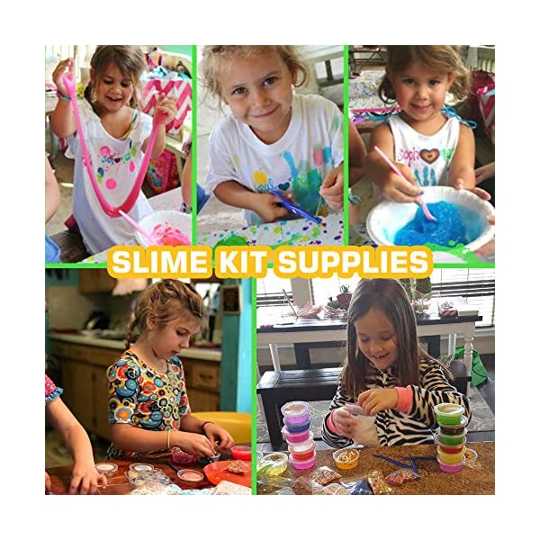 Byonebye 126 Pcs DIY Slime Making Kit for Girls Boys - Birthday Idea for Kids Age 5+. Ultimate Fluffy Slime Supplies… 8