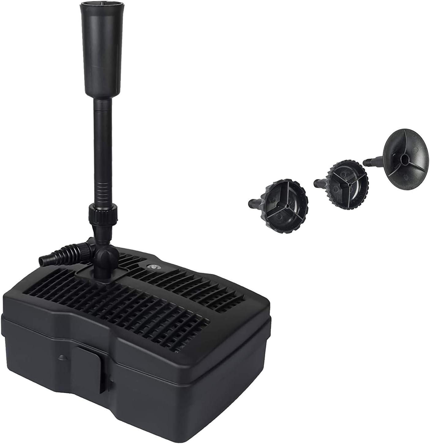 GRECH CUF-2511 11W Pond Pump Heads Black Over item handling ☆ Fountain 396gph w Be super welcome