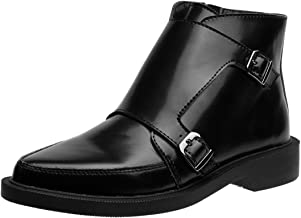 T.U.K. Shoes Black Leather Jam Two Buckle Boots