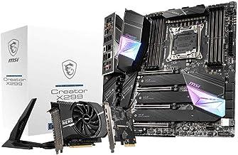 MSI Gaming Intel X299 LGA 2066 Thunderbolt M3 Wi-Fi 6 10G LAN DDR4 USB3.2 Gen 2 SLI CFX Extended ATX Motherboard (Creator ...