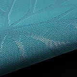 Platzset Abwischbar 30x45cm 6 Stück, moonlux Platzdeckchen Tischset Abwaschbar Rutschfest PVC Abgrifffeste Hitzebeständig Tischmatten(Blau) - 4