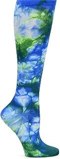 Women's Compression Trouser Socks, Tie Dye Royal Green, XX