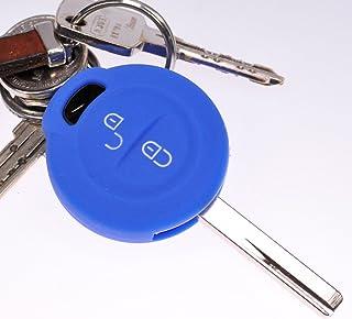 Soft Case Schutz Hülle Auto Schlüssel Blau für Mitsubishi Colt VI Smart Forfour 454