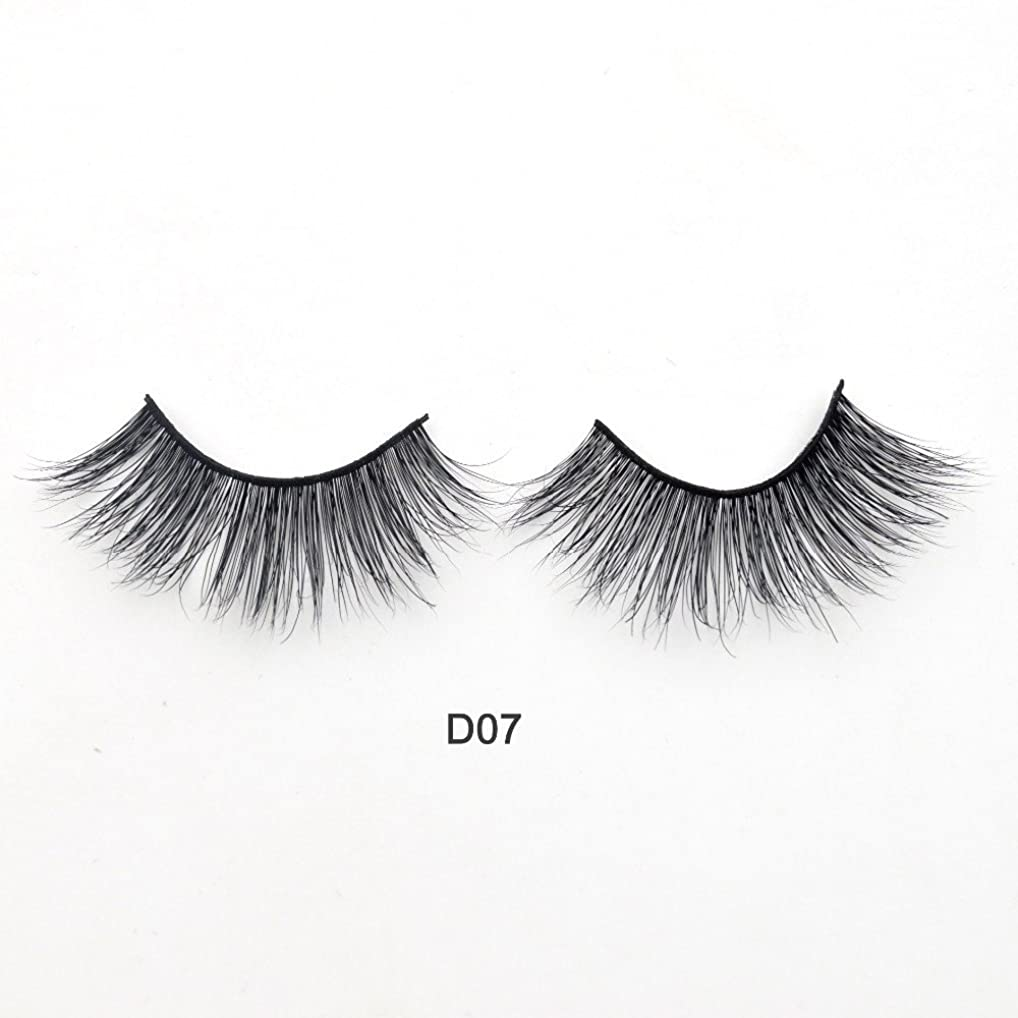 死んでいる知り合い子供時代(D07) Visofree Eyelashes 3D Mink Lashes Luxury Hand Made Mink Eyelashes Medium Volume Cruelty Free Mink False Eyelashes Upper Lashes