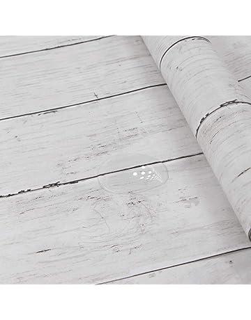 LZYMLG Papel Pintado Autoadhesivo Impermeable Retro Dormitorio Universitario Sala De Ni/ños Sala De Estar Pegatinas Decorativas De Pared Muebles Pegatinas De Armario Grano de madera de la torre