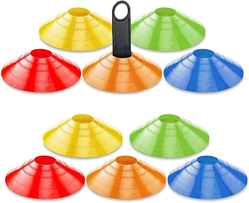 mengger Plots de Marquage, Haute Visibilité cônes de marqueurs avec Porte-Plot Inclus Sport Délimitation pour Entraîn...