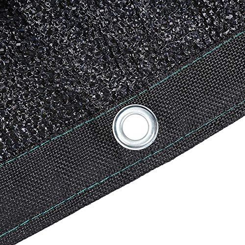 2x4m Ombre Tissu Noir UV Durable résistant Pare-Soleil Net avec Œillets Idéal for Flower Garden Plante à Effet de Serre Grange ou Kennel Couvertures de Toit de Voiture (Taille: 2M × 5 M) Taille: 6M ×
