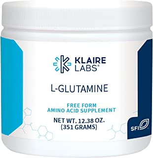 Klaire Labs L-Glutamine Powder - 5000 mg Free-Form & Hypoallergenic Amino Acid Support for Intestinal Immune Function, Dairy & Gluten-Free (351 G / 60 Servings)