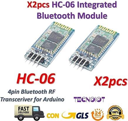 Equipamiento industrial x2pcs HC-06 Bluetooth Serial