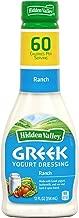 Hidden Valley Greek Yogurt Original Ranch Salad Dressing & Topping, Gluten Free - 12 Ounce Bottle