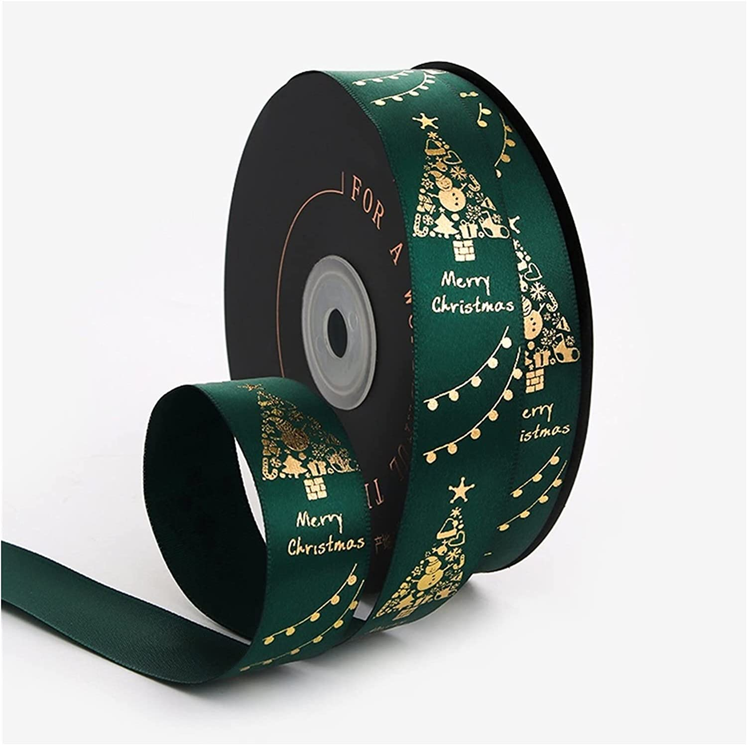 HSLINU 25mm At the price Christmas Special Campaign Satin Ribbon Gift Xmas for Wrapping