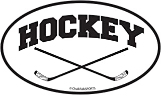 ChalkTalkSPORTS Hockey Car Magnet | Crossed Sticks | Black